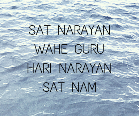 Chanting the mantra Sat Narayan for Inner Peace