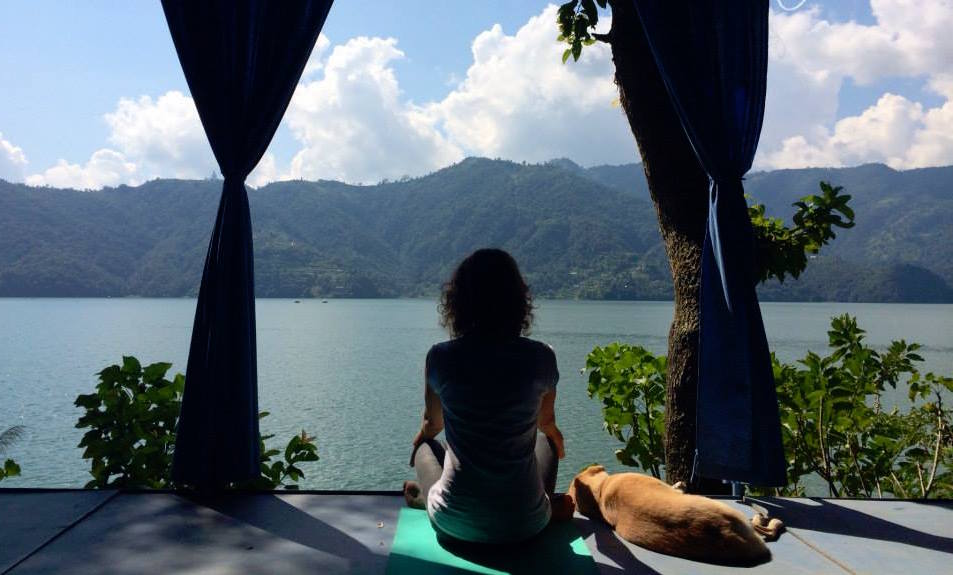 Kundalini Yoga Journey Nepal, meditation Lake Pokhara